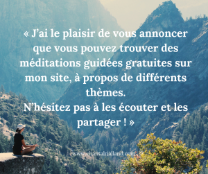 Post FB Janvier Méditations Gratuites