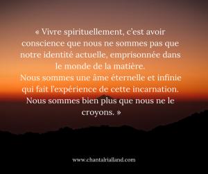 Post FB février 2019 Vivre spirituellement