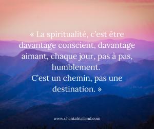 Post FB Décembre 2019 La spiritualité
