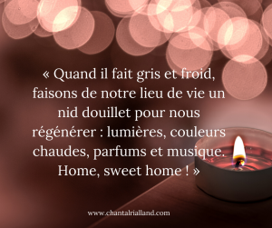 Post FB décembre 2019 Home,sweet home